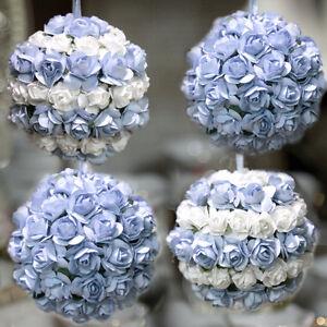 Palline di natale decorate fatte a mano fiori bianchi e - Palline di natale fatte in casa ...
