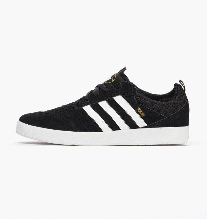 Adidas SUCIU ADV Black White Gold Metallic Casual Skate D (333) Men's Shoes