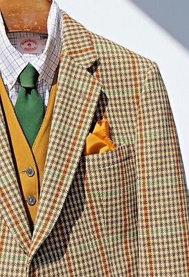 Bladen Supasax 44S Green Check 'Saxony Tweed' Hacking Jacket - England - $475.00