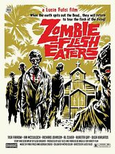 """Zombie Flesh Eaters 16"""" x 12"""" Reproduction Movie Poster Photo"""