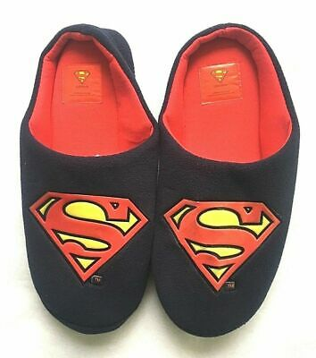 2 Sizes DC Comics Official Superman Classic Logo Adult Mule Slip On Slippers
