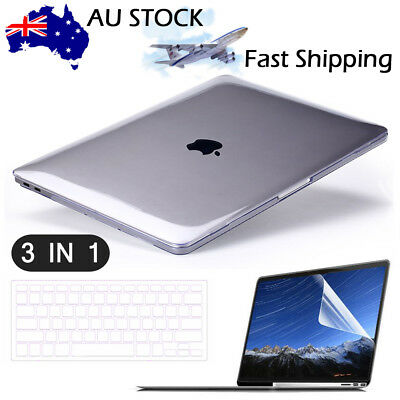 """Glossy Clear Hard Shell Case Keyboard Cover LCD For MacBook PRO 13//15/"""" Touch Bar"""
