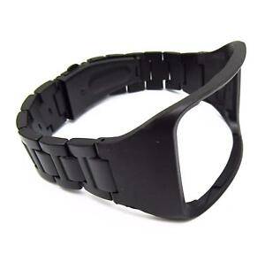 Black-Stainless-Steel-Watch-Band-Wrist-Strap-for-Samsung-Gear-S-SM-R750