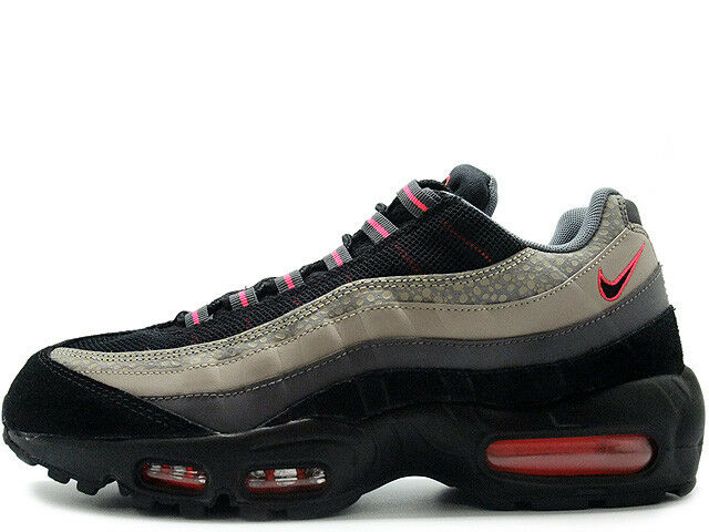 Nike Air Max 95 Premium Sneakers New, Safari Black / Ash 538416-006 sku AA Wild casual shoes
