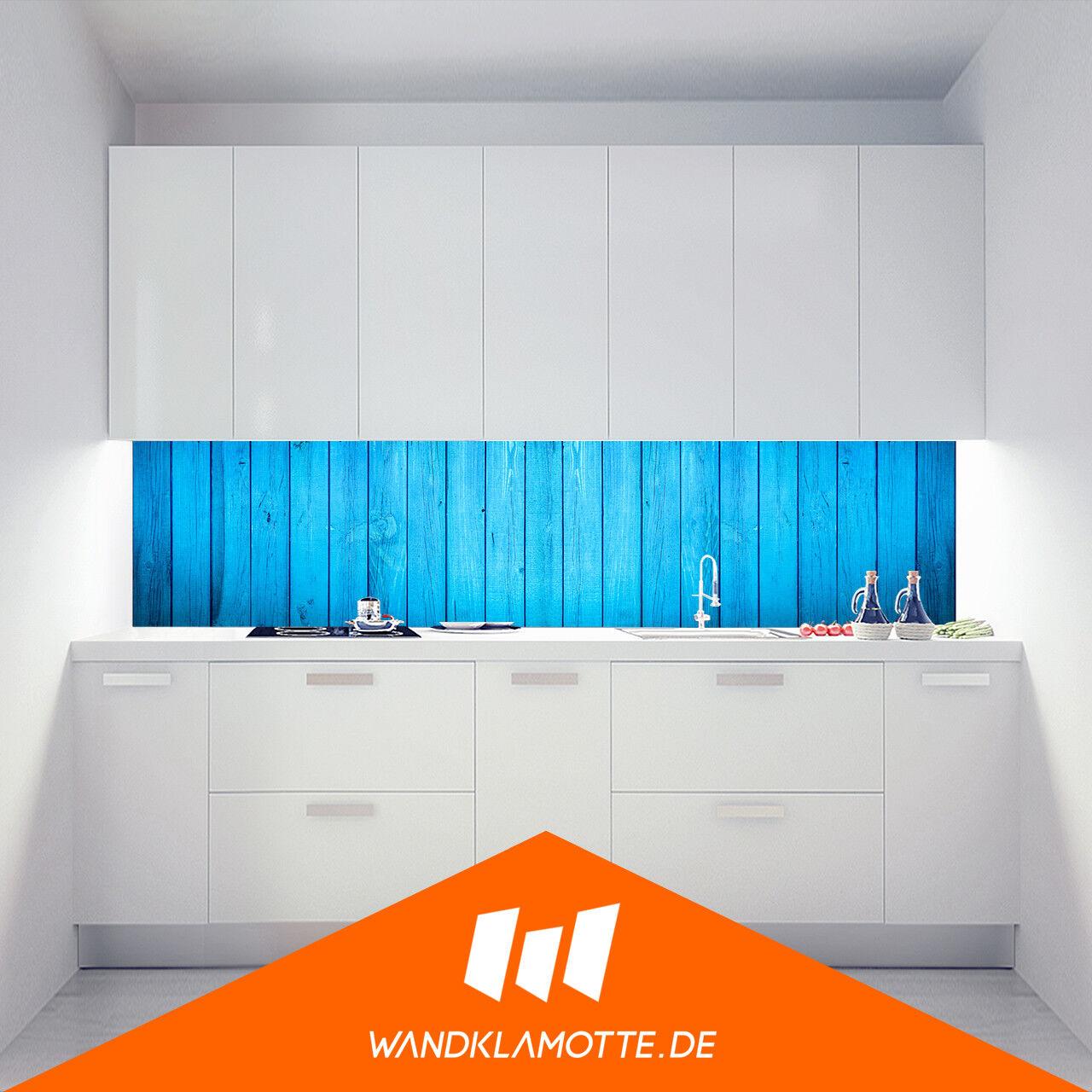 Étagère Murale Cuisine Aluminium Composite Cuisinière Garde-Boue High Wood Bleu
