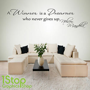 NELSON MANDELA DREAMER WALL STICKER QUOTE - BEDROOM WALL ART DECAL ...