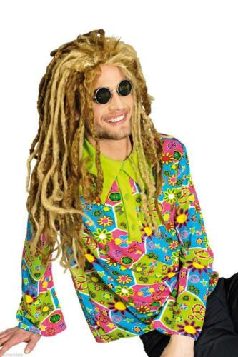 70er 80er Jahre Hemd Party Kostüm Hippiehemd Herren Hippie Hippy Hippiekostüm