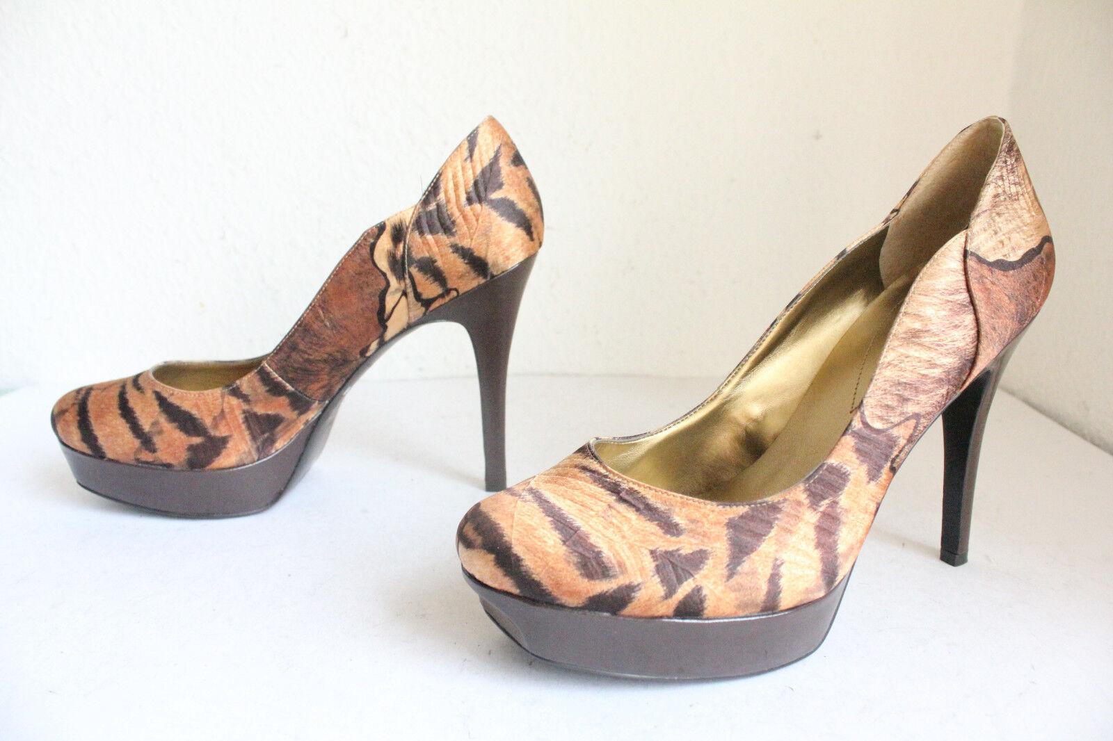 GUESS Luxus Pumps Tigermuster High Heel Pumps Luxus Schuhe Mehrfarbig Eu:41-Us:10M 38d184