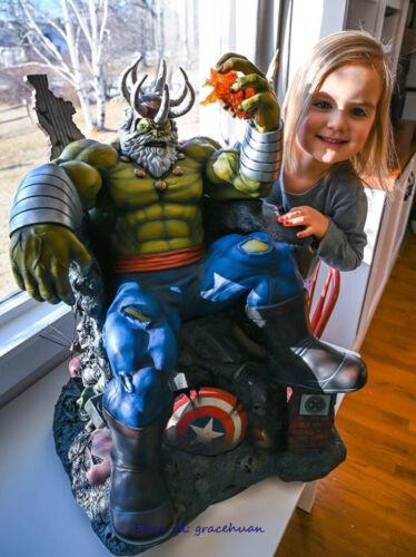 Hulk On Throne 1//4 Scale Polystonestatue Model Collection Formulate Pre-sale