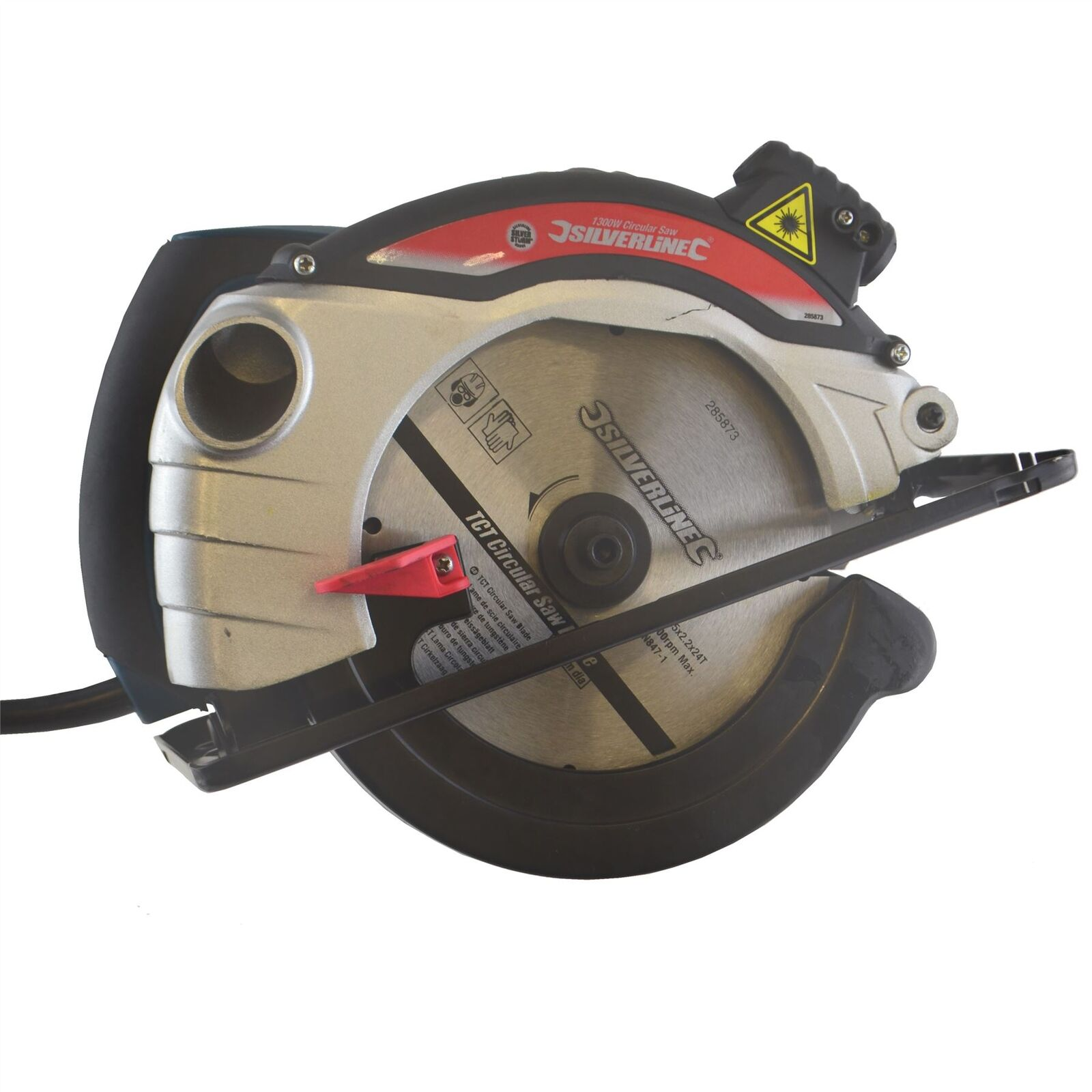 1400w Scie circulaire 185mm - Guide Laser coupe longitudinale lame Woodwork Ele
