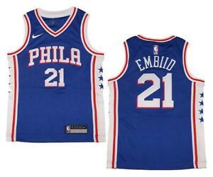 751fe9cbea8 La foto se está cargando Juventud-Nike-Philadelphia-76ers-21-Joel-Embiid- Royal-