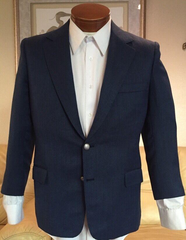 Stunning Dormeuil Blau 100% Cashmere Metal Button Blazer Sz 36 38 40 S MINT