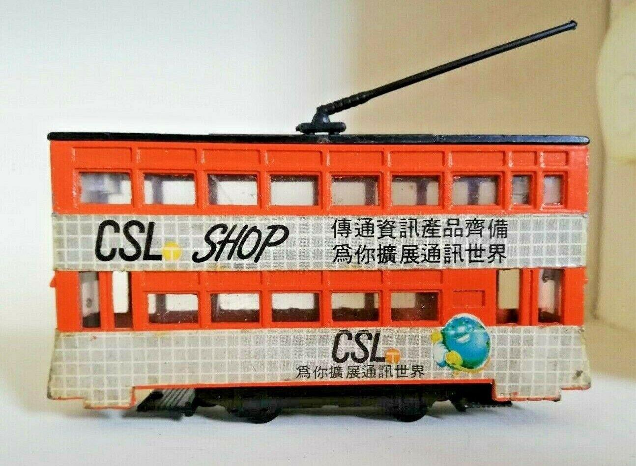 Rare 1987 Vintage orange Hong Kong Tram Diecast Model Toy CSL Shop Ad WJB 1 90
