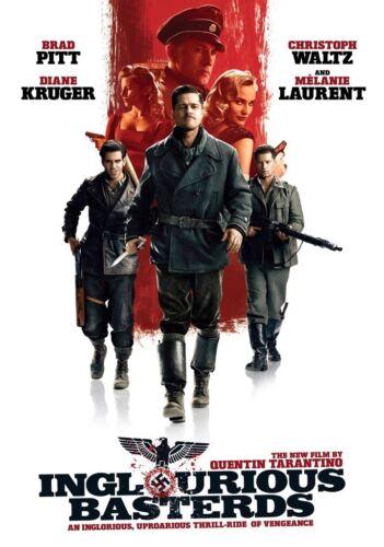 INGLOURIOUS BASTERDS Movie PHOTO Print POSTER Quentin Tarantino Brad Pitt Art 01