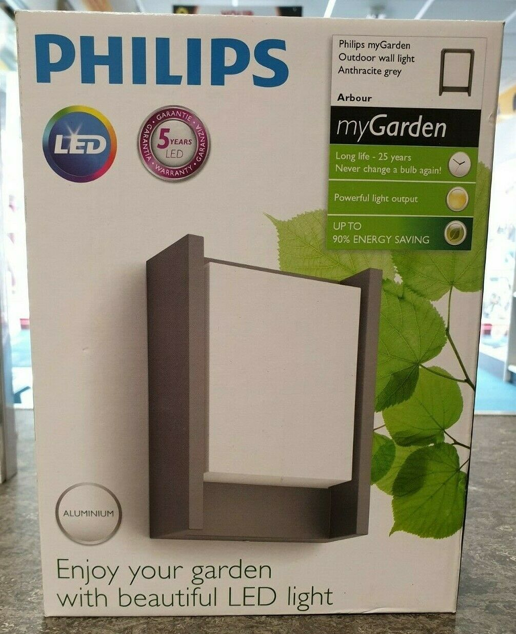 Philips Arbour IR 6W Outdoor LED Wall Light Anthracite grau Warm Weiß