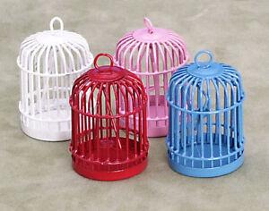Bird Cage Choix De Couleur.. Maison De Poupées Accessoire, Rouge, Bleu, Rose Ou Blanc-afficher Le Titre D'origine