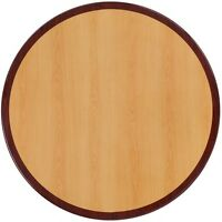 48'' Round Resin Restaurant Table Top With Two-tone Cherry And Mahogany