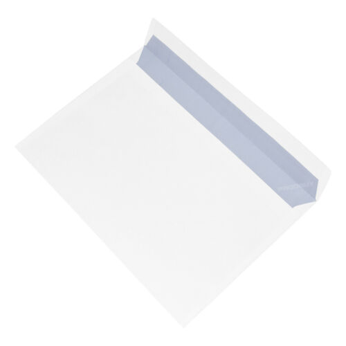 100 X C5 Enveloppes Blanc Uni 90gsm Peel /& Self Seal Home Office A5 Lettre Pack