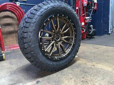 """2019 Ram 1500 >> 20x9 Fuel D681 Rebel Bronze 32"""" AT Wheels Rims Tires 6x5.5 ..."""