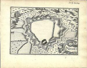Antique-map-Nismes-Nimes