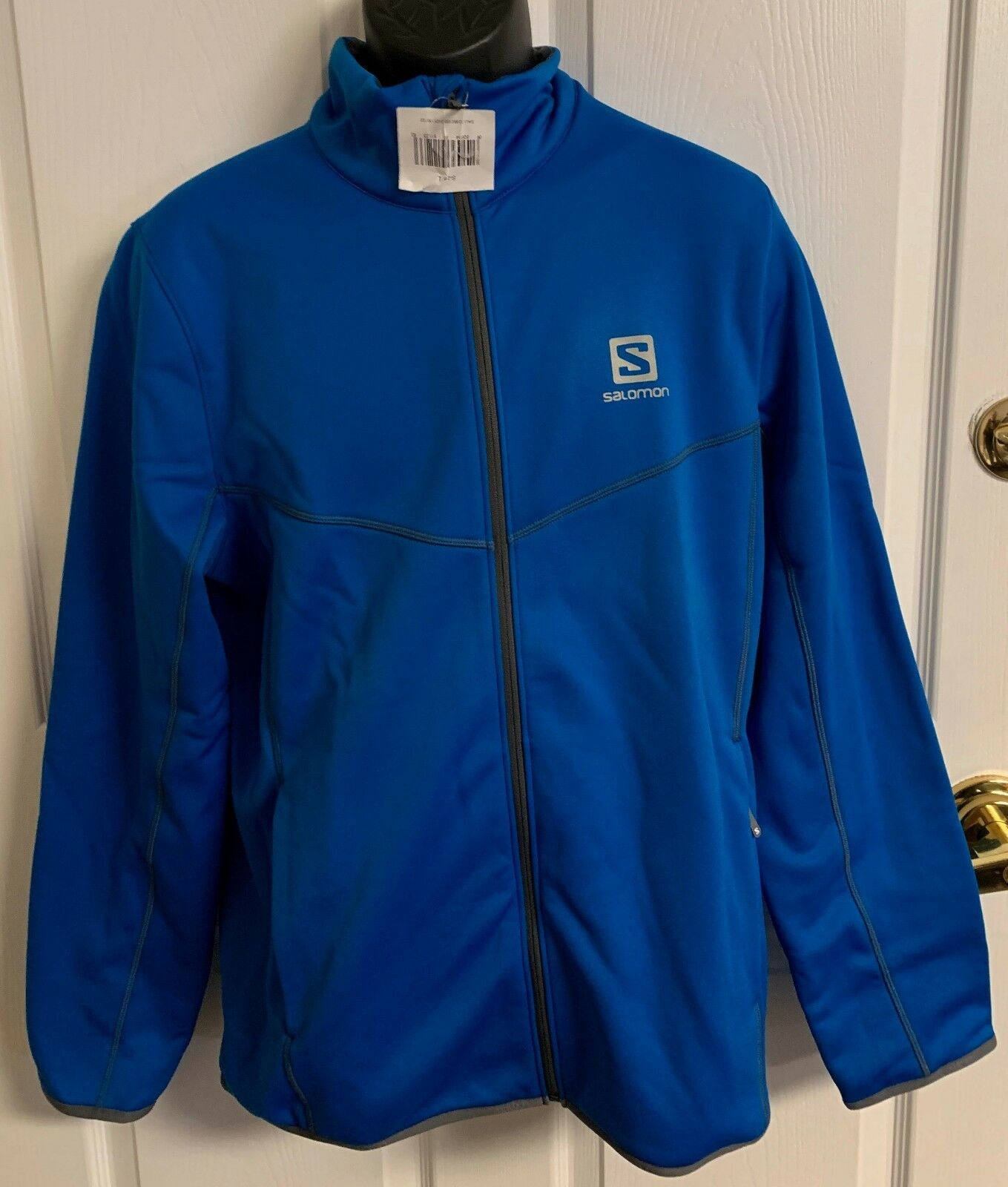 New Salomon  CRUZ FULL ZIP  Men's Large Winter Hike Union bluee  90