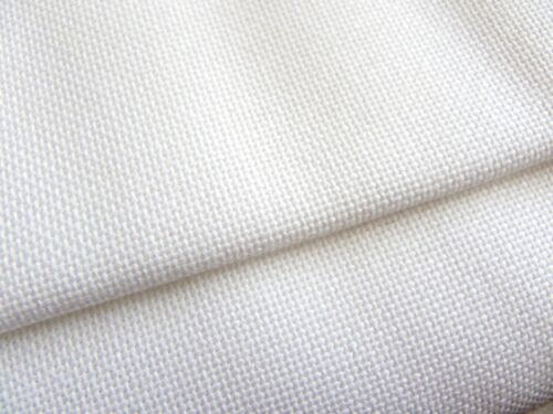 White 25 count Zweigart Lugana evenweave fabric 100 x 140 cm
