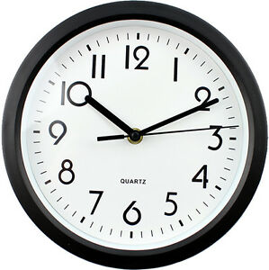 Large Wall Clock Black Numerical Face 23cm 9 39 39 Approx