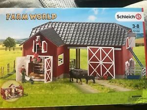 Schleich-72102-Farm-World-Large-Red-Barn-with-Animals-amp-Accessories-Toy-Figure