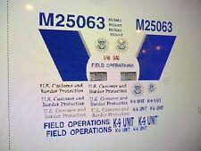 US Border Patrol  Field Ops Car Decals 1:18 Custom