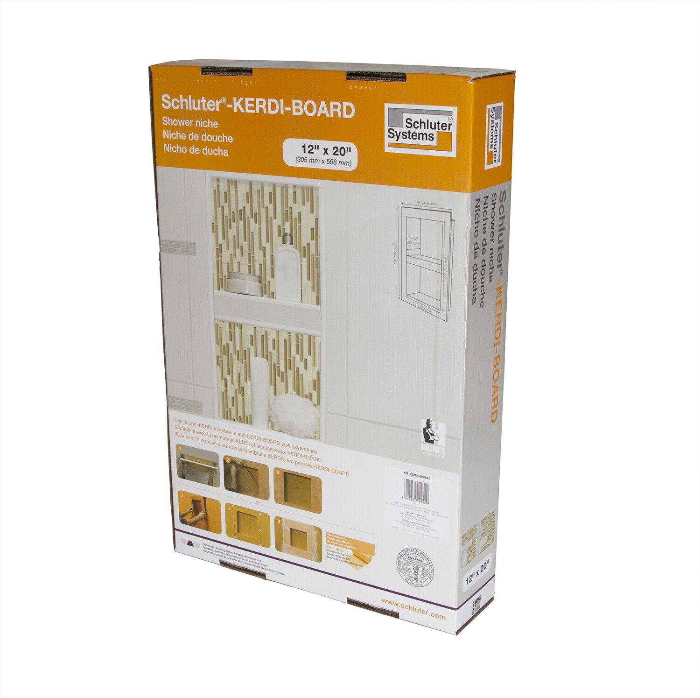 Schluter Systems Kerdi Board Niche Shower Wall Shelf KB12SN305508A1 | EBay