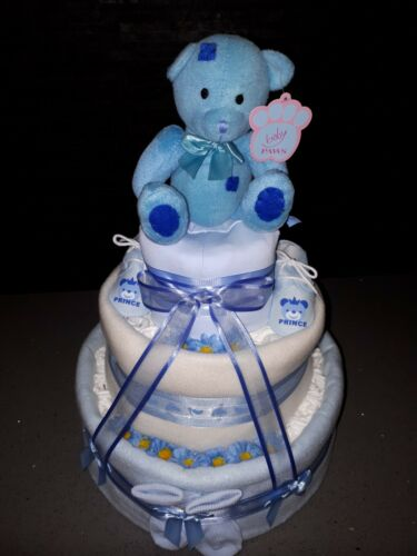 HAMPER  Baby Boy Baby shower girl unisex new MUM Handmade 3 TIER NAPPY CAKE