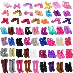 Lots-Boots-High-Heel-Flats-Sandals-Shoes-Clothes-Accessories-for-Barbie-Doll-Toy