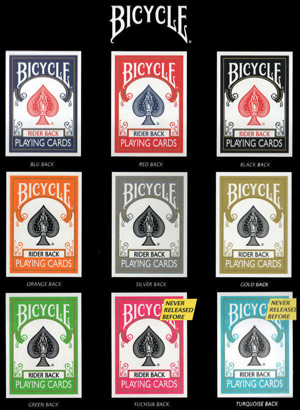 SET CARTE DA GIOCO BICYCLE Couleur COLLECTION,9 mazzi + 2 tappetini in box