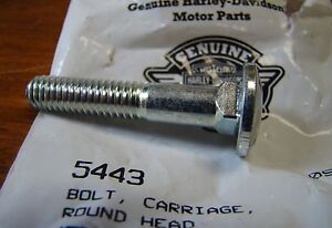"NOS OEM Harley Davidson 5//16/""-18 x 1-3//4/"" Carriage Bolt P//N 5443"