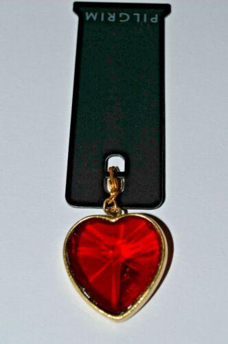 PILGRIM cœur charme or et rouge
