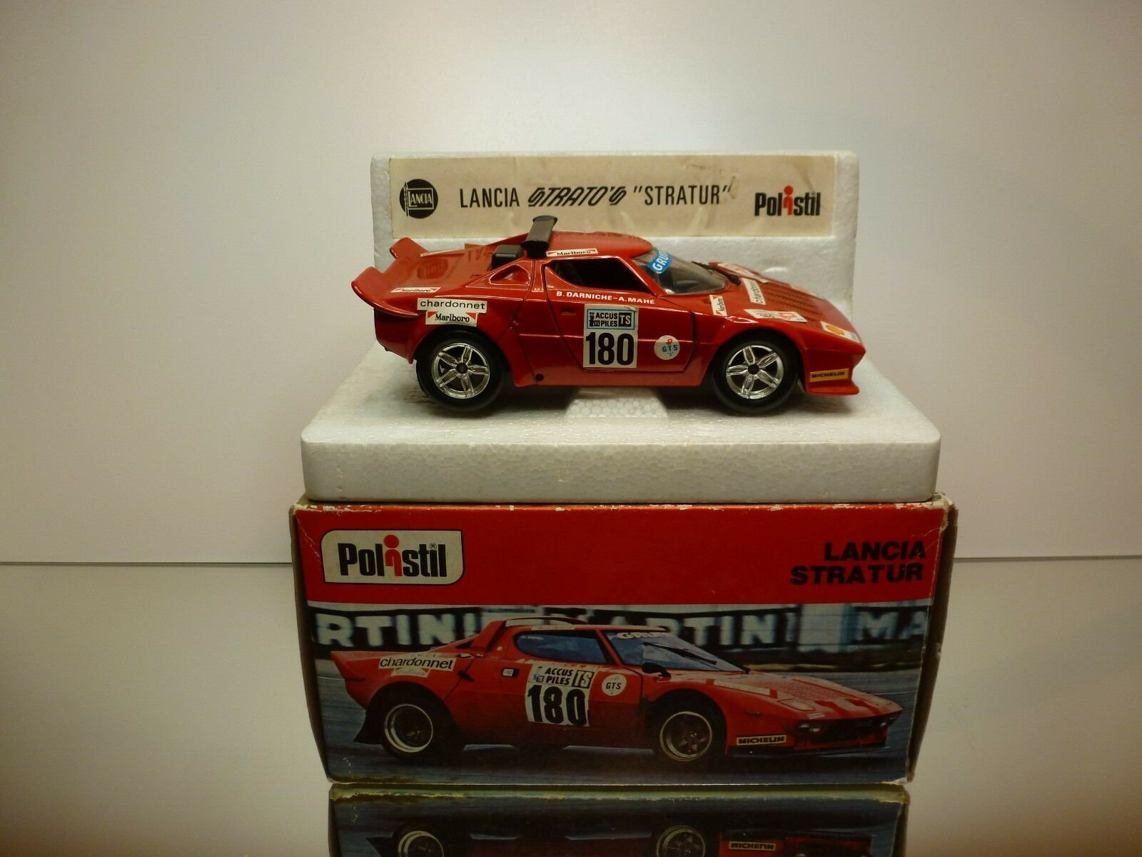 POLISTIL S32 LANCIA STRATOS STRATUR - DARNICHE  180 - rojo 1 25 - GOOD IN BOX
