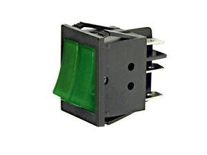 Interruttore-a-bilanciere-doppio-220V-16A-unipolare-tasto-verde-luminoso-32x25