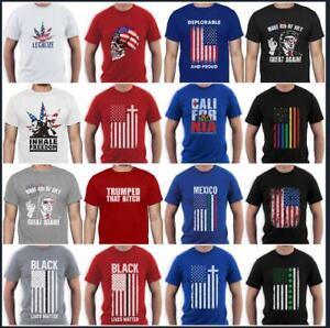 American-Flag-T-Shirt-Distress-Men-039-s-T-shirt-4th-Of-July-Trump-Vintage-Tee