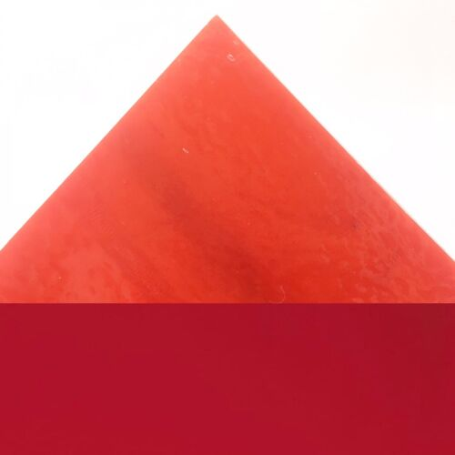 Rojo Tomate Vidrio Opal Bullseye Con Fusible Fusión 3mm Coe90 manchado