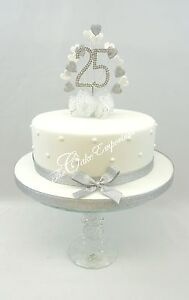 pearl heart wedding cake topper silver pearl ruby golden sapphire wedding 18164