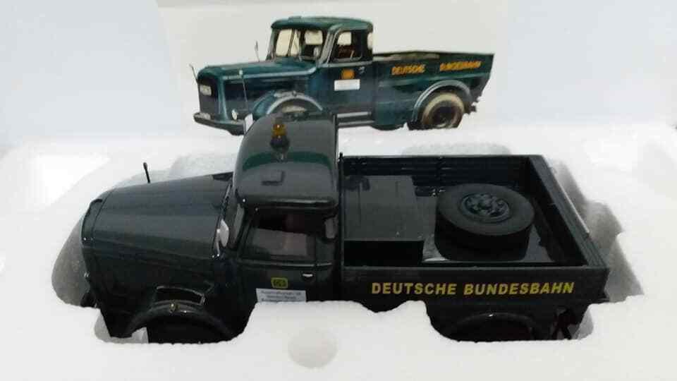 1 32 M Miniatur Modelo Kaelble K632 Zb Deutsche camión 1965 verde Oscuro