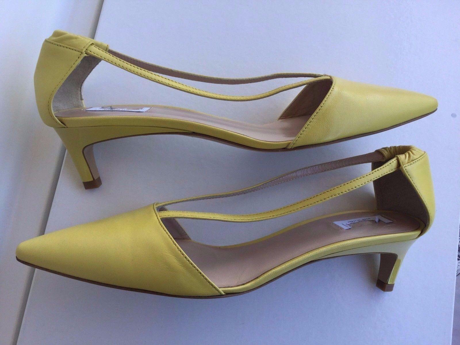 Max Mara elegant elegant elegant zapatos mujer, amarillo Color, Talla 40 zapatos eleganti mujer, pelle  contador genuino