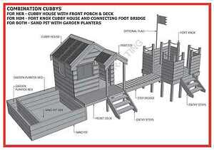 CUBBY-HOUSE-amp-FORT-amp-SAND-PIT-COMBO-Build-With-Your-Kids-Building-Plans-V1