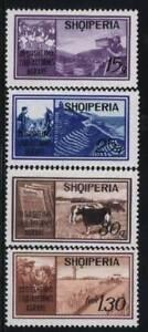Albanie-neuf-sans-charniere-SC-1307-10-Mi-1435-38-fruits-ble-bovins