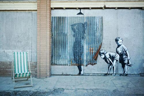 Mister Illegal Foto XXL 120,5x 75 Alu Dibond//Banksy//Pop Art//Graffit//Street Art