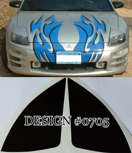Free Shipping! 2000-04 Mitsubishi Eclipse Headlight Eyebrow Decals 10 Colors
