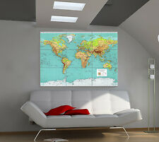 """World Map 1970 Huge Art Giant Poster Wall Print 39""""x57"""" px94"""