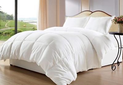 White Down Alternative Comforter// Duvet Insert Stitch Bedding Bed Cover