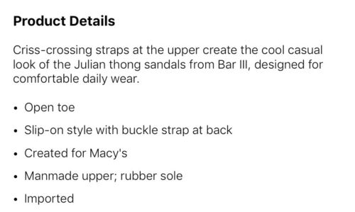 $60 BAR III JULIAN MENS BLACK SANDALS