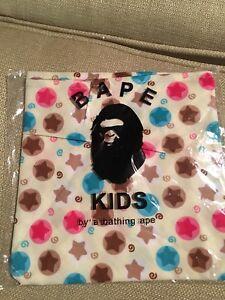 754643dba New Bape Kid by A Bathing Ape Toddler Bandana Neckerchief Star Print ...